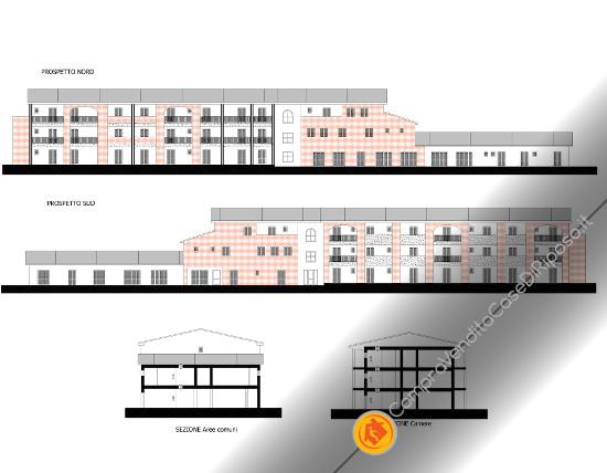 Vendesi terreno con progetto per R.S.A. - sezioni e progetti RSA