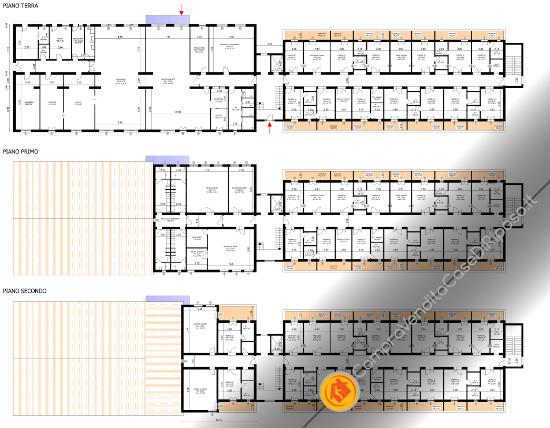 Vendesi terreno con progetto per R.S.A. - planimetrie